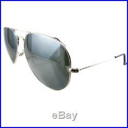 Ray-Ban Lunettes de Soleil Aviateur 3025 Gris Argenté Miroir 003/40 Grand 62mm