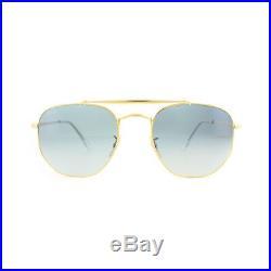 Ray-Ban Lunettes de Soleil Marshal 3648 001/3F or Bleu Clair Dégradé