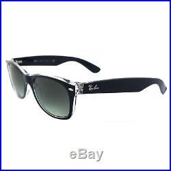 Ray-Ban Lunettes de Soleil Neuves Wayfarer 2132 605371 Bleu Transparent Gris