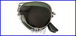 Ray Ban Lunettes de Soleil Pliable Aviateur RB3479 004 Gunmetal / Vert G-15