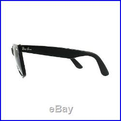 Ray-Ban Lunettes de Soleil Wayfarer 2140 901/58 Noir Vert G-15 Polarisé Grand