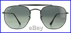 Ray-Ban Marshal Rb3648 Lunettes de Soleil Noir 002/71 Gris Inclinaison 54mm