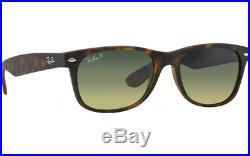 Ray-Ban Neuf Wayfarer RB2132 894/76 52mm Mat Havn W /Bleu/Vert Gradnt Polaire