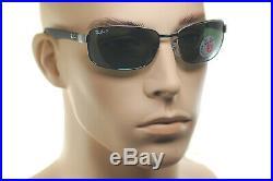 Ray-Ban RB3478 004/58 60mm Polarisé Hommes Lunettes de Soleil Carrées Gris