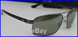 Ray Ban RB3804-CH 004/5J Homme Chromance Argent Miroir Polarisé Soleil Neuf