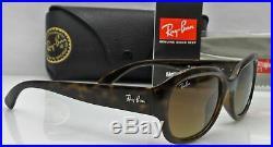 Ray Ban RB4198 710/85 Femmes 55mm Marron Havane Cadre Lentille Soleil Neuf