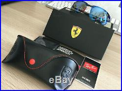 Ray-Ban RB8305 Ferrari Edition Fibre Carbon Scuderia Shiny Dark Grey Mirror Blue