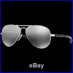 Ray-Ban RB8317CH Chromance Argenté Brillant Gris Miroité Argent Polarisé RB8317C