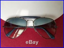 Ray Ban Rb3407 Rainbow Outdoorsman II Bleu Comme Neuve Aviator Verre Bleu