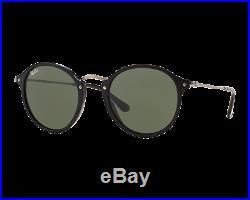 Ray-Ban Round Fleck Medium Noir G-15 XLT RB2447 901 49   Lunettes de ... 076c2aca2d75