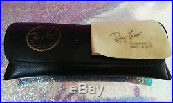 Ray Ban Vintage W0976 Classic 1 Ovale Aviator Plaqué Or 24 K B & L Rayban