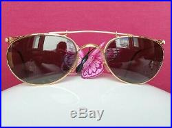 Ray Ban Vintage W1532 Deco Metals Arista Ovale Plaqué Or 24 K Baush & Lomb
