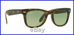 Ray Ban Wayfarer Pliage RB4105 894/4M Havane Tortue Vert Nuancé Lentille 50-22