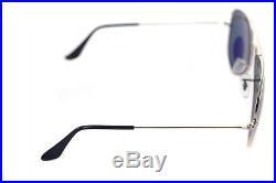 Ray-Ban aviateur polarisé RB3025 003 58 58mm Grand Argent Vert + boîte rare 0f863223059f