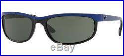 Ray ban 2027 62 Predator 2 6301 Black Bleu Lunettes de Soleil Noir G15 Verres