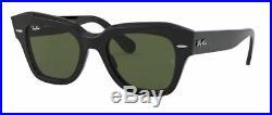 Ray ban 2186 49 901/31 Black Soleil Verres Vert G15 State Street