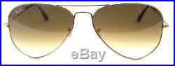 Ray ban 3025 58 Aviateur 001/51 or Brun Gradué or Brun Nuancé Soleil