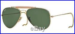 Ray ban 3030 58 de plein Air L0216 or Sunglasses Lunettes Soleil Barre Hérisson