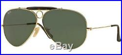 Ray ban 3138 62 Shooter 181 Vert G15 or or Sunglasses Lunettes de Soleil
