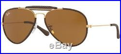 Ray ban 3422Q 58 9041 Leather Inserts Roses or Dark Brun Cuir or Brun