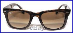 Ray ban 4105 50 Wayfarer Pliant 710/51 Havana Pliant Sunglasses Brun