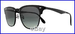 Ray-ban Blaze Clubmaster RB3576N Soleil Noir Brillant 15311 Gris Pente 41mm