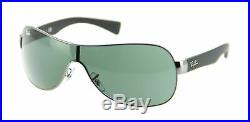 Ray-ban Hommes Lunettes de Soleil RB3471 004/71 32 Gunmetal Cadre / Vert Verres
