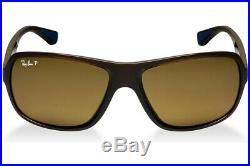 Ray-ban Lunettes RB4192 714/83 61mm Brillant Marron Polarisé Enveloppant Neuf