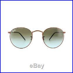 Ray-ban Lunettes Rond Métal 3447 900396 Bronze Cuivre Bleu Dégradé Brun S