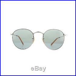 Ray-ban Lunettes Rond Métal 3447 9065I5 Argent Bleu Photochromique M 50mm