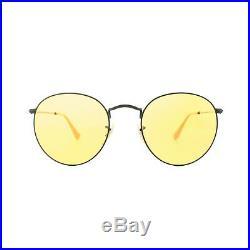 Ray-ban Lunettes Rond Métal 3447 90664A Noir Jaune Photochromique Grand 53mm