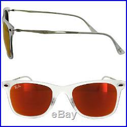 Ray-ban Lunettes Wayfarer Light Ray 4210 646/6Q Mat Transparent Miroir Rouge