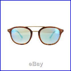 Ray-ban Lunettes de Soleil 2183 1128B7 Havane Clair Gris Bleu