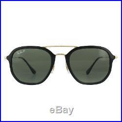 Ray-ban Lunettes de Soleil 4273 601/9A Doré Noir Vert Polarisé