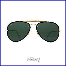 Ray-ban Lunettes de Soleil Blaze Aviateur 3584N 905071 or Vert Foncé 58mm