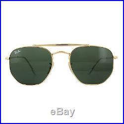 Ray-ban Lunettes de Soleil Marshal 3648 001 or Vert G-15