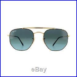 Ray-ban Lunettes de Soleil Marshal 3648 91023M Tortue or Dégradé Bleu