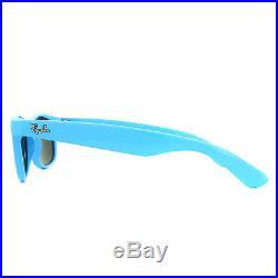 Ray-ban Lunettes de Soleil Neuf Wayfarer 2132 755/40 Bleu Clair Argent Miroir