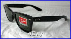 Ray ban Original Wayfarer RB 2140 901/58 Gr. 54 Neuf Noir Polarisé