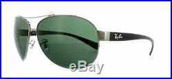 Ray-ban RB3386 Lunettes de Soleil Gunmetal 004/71 Vert 63mm