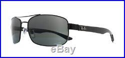 Ray-ban RB8318 Chromance Lunettes de Soleil Noir 002/5L Miroir Gris Polarisé