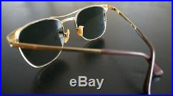 Ray-ban Signet Vintage B&L W0386 Arista 24K Gold 52 19 G15 UV /1993/ AUTHENTIC