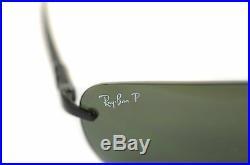 Rayban Tech Carbone Fibre Polarisé RB8303 002/9A Monture Invisible Lunettes de
