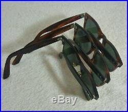 Vintage 3 paires Lunettes soleil RayBan B&L USA Wayfarer II MAX G-15 Lenses 70's