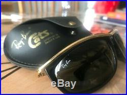 Vintage B&L Ray-Ban L1000 or / Noir Ébène G15 Cristal Olympian