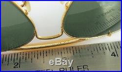 Vintage B&L Ray-Ban USA 58 14 Enveloppant Arounds Outdoorsman Aviateur