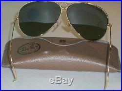 Vintage B&L Ray Ban USA G15 Tir Shooters Soleil Aviateur (Neuf Ancien Stock)