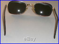 Vintage B&L Ray-Ban W2812 Marron/or Combo G15 Anti-uv Rectangulaire Diners