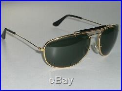 Vintage B&L Ray-Ban or / Noir Mélange G15 UV Sport Enveloppant Masque