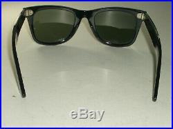 Vintage Bausch & Lomb Ray Ban W1208 Noir Ébène G15 UV Wayfarer 5022 Soleil
